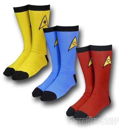 175e5c0691a9 Star Trek Uniform Crew Socks 3 Pack | Clothing | Star trek uniforms ...