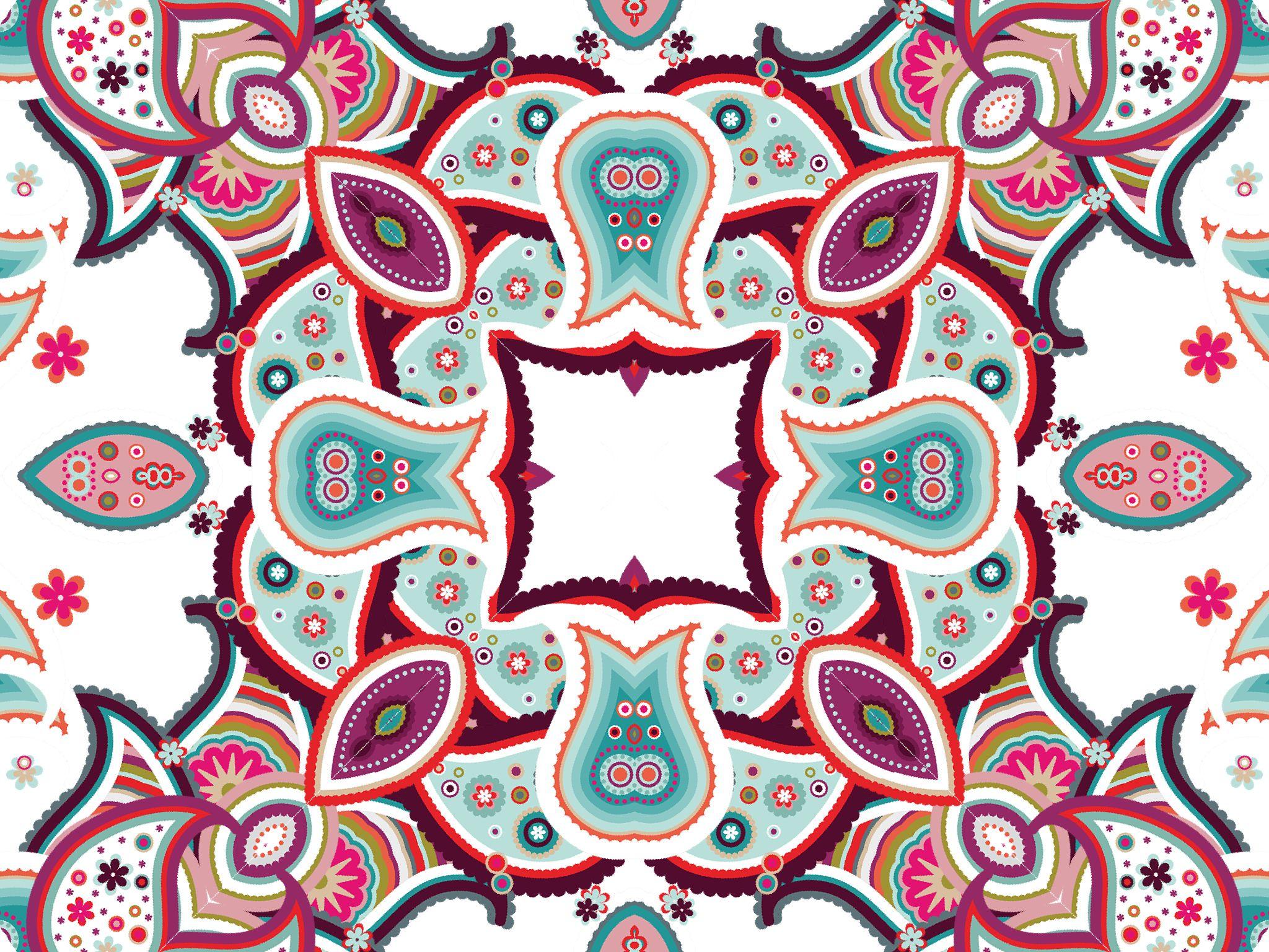 Paisley kaleidoscope