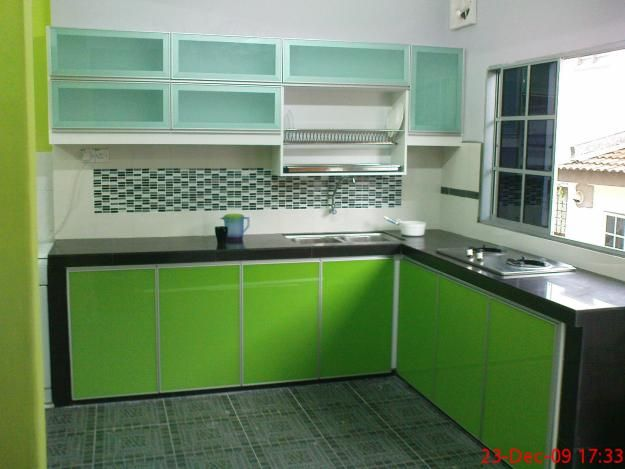 Reka Bentuk Dapur Green Kitchen Cleaning Designer Wallpaper My Dream