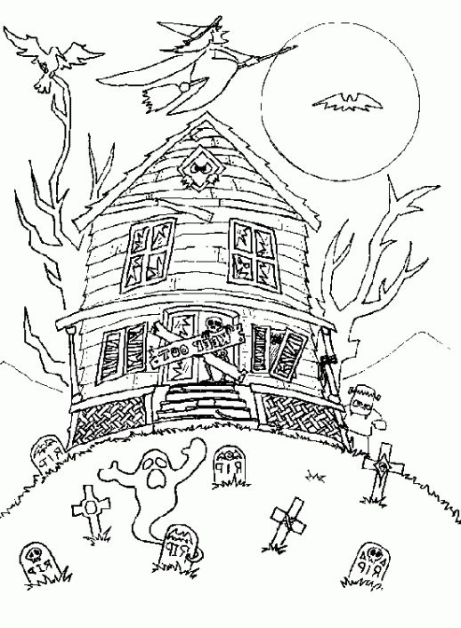 The Awesome Beautiful halloween coloring sheets for middle