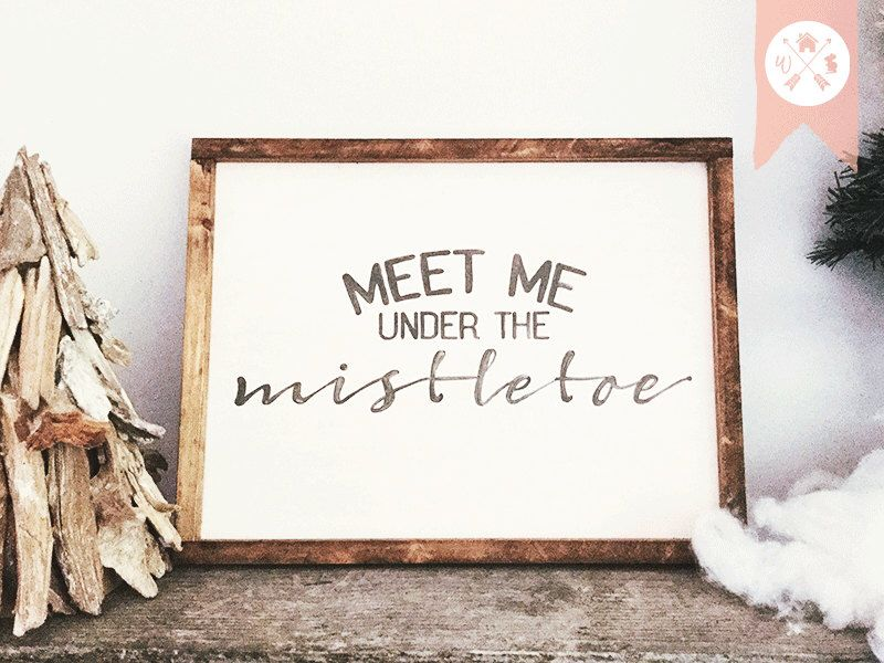 Under The Mistletoe Christmas Home Decor Country Signs