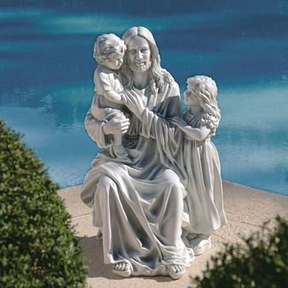 children garden statues. Jesus Loves The Little Children Garden Statue Statues