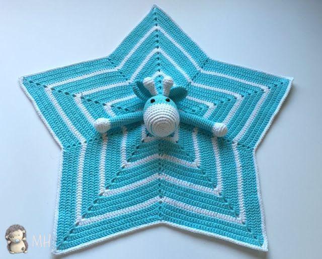 Manta de Apego Estrella con Jirafa a Crochet - Patrón Gratis en ...