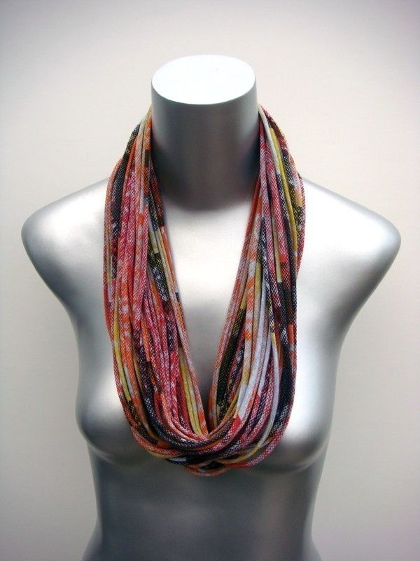 Infinity Scarves Necklace Circle Scarf Tribal Jewelry Men