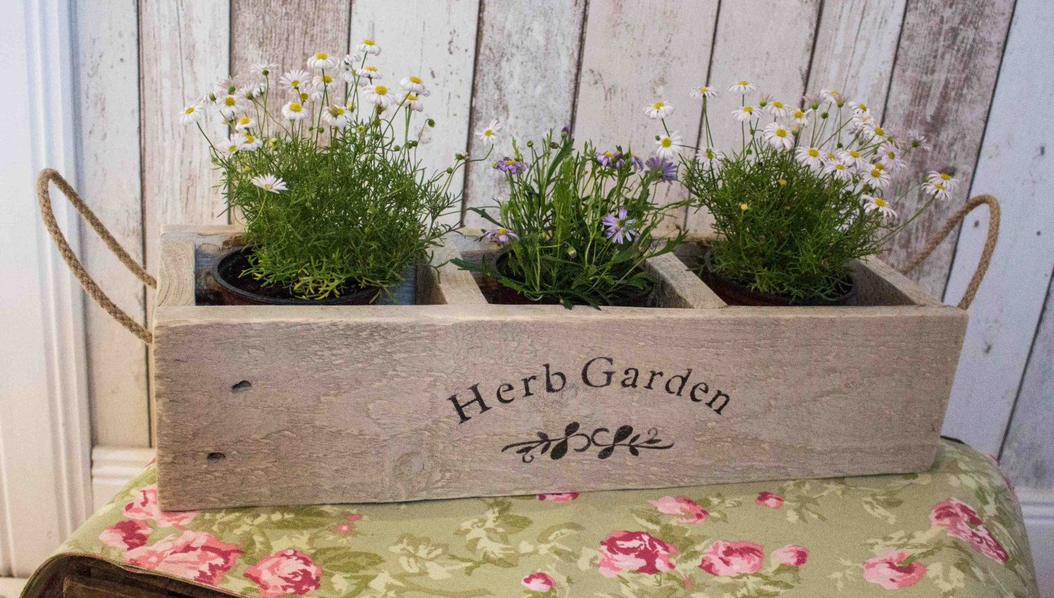Handcrafted Herb Planter, Wooden Planter, Herb Crate, Herb Box, Window Box,