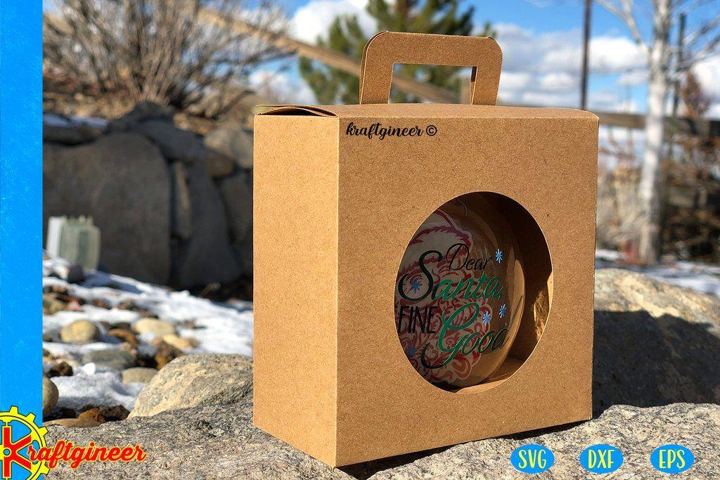 "Ornament Box 3.125"" (80mm) Disc Ornament box"