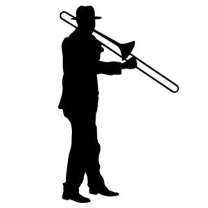 Trombone Player 10 Wall Silhouettes Trombone Trombone Art Trombone Player