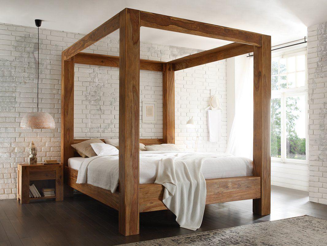 Himmelbett Stark 180 X 200 Cm Bed Canopy Bed Diy Wood Bed Design