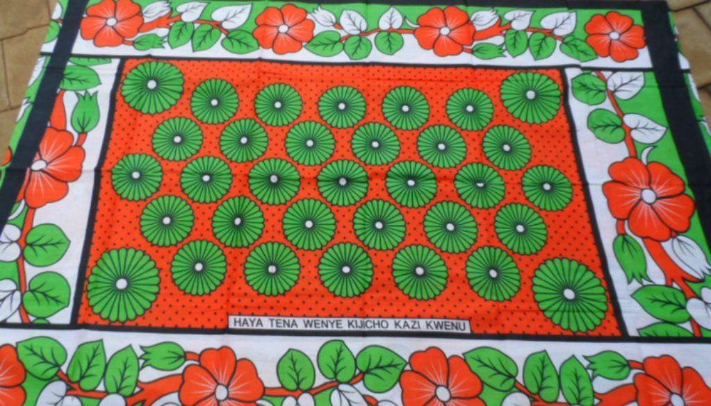 Kanga.Khanga.Lesso.Leso.Kitenge.Swahili. Fabric