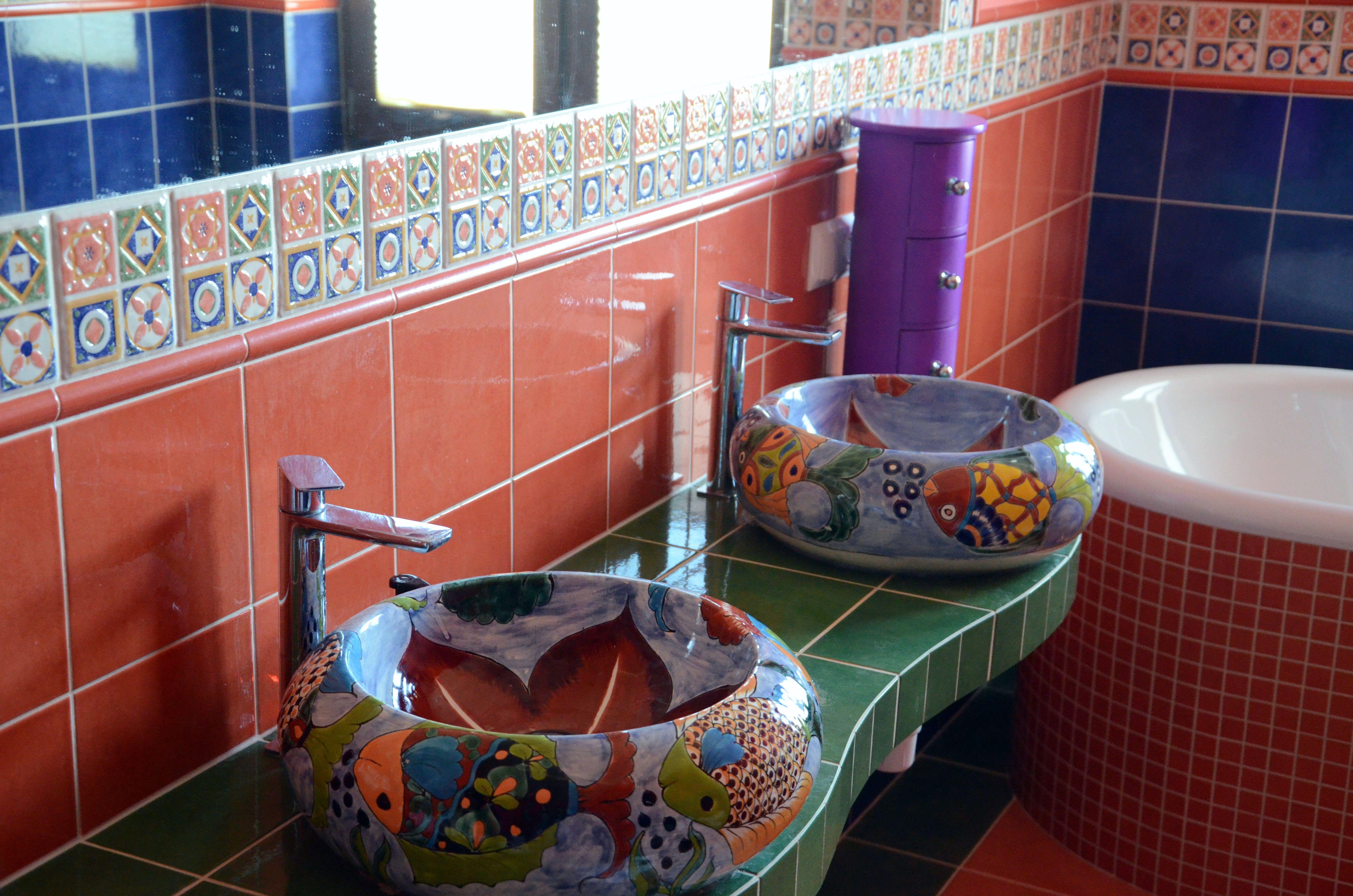 Mexikanische Waschbecken Mexikanischewaschbecken Waschbecken Badezimmer Waschtisch Aufsatzwaschbecken Badi Waschbecken Aufsatzwaschbecken Mexikanisch