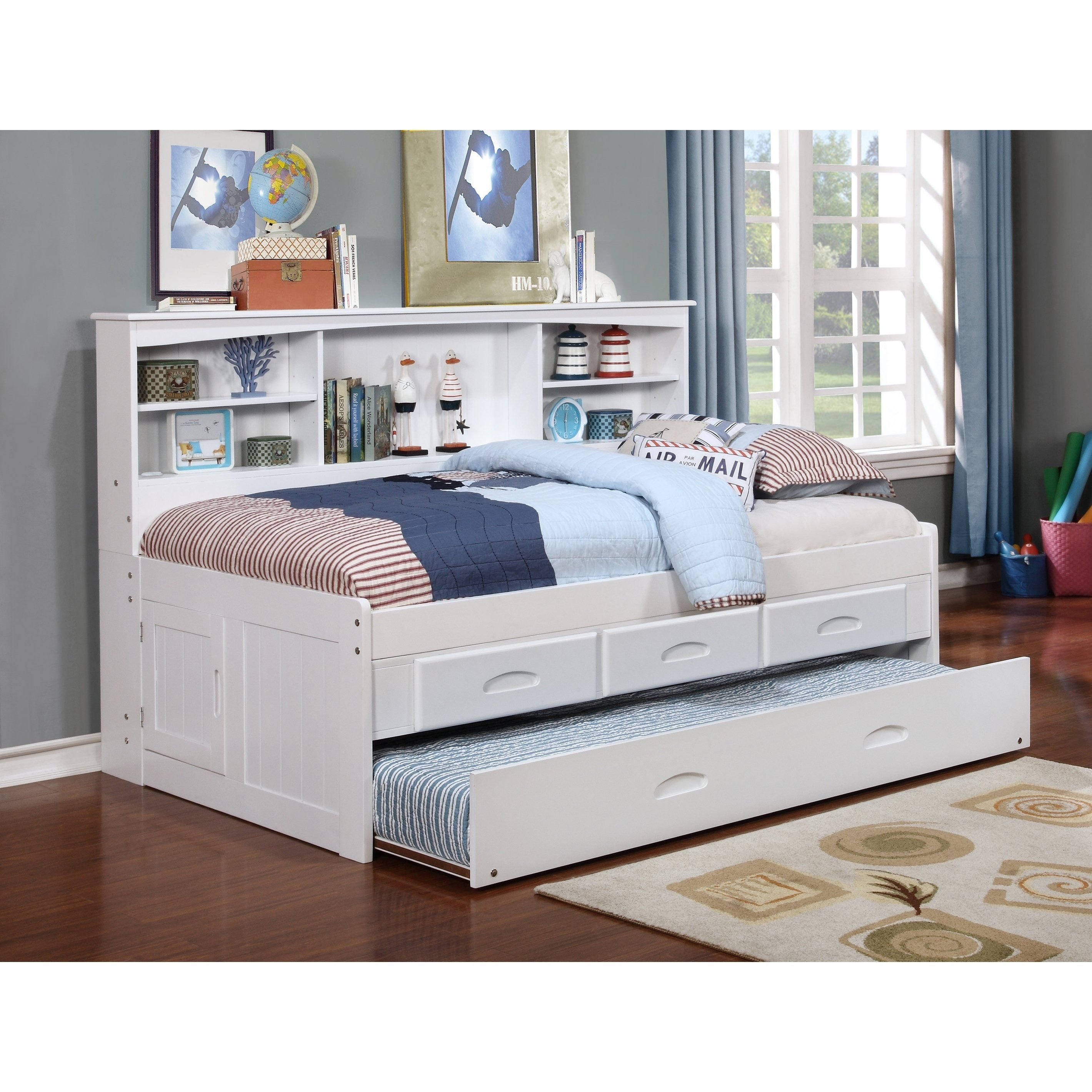 American Furniture Classics White Solid Pine Twin 3 Drawer Daybed