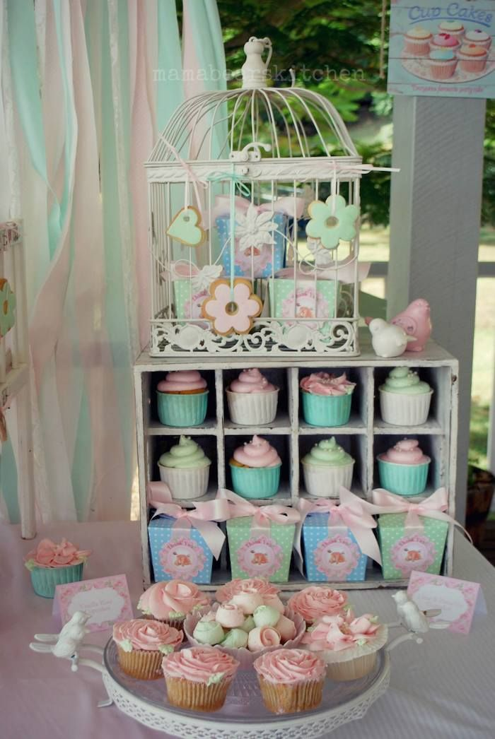 Shabby Chic Pink And Mint Baby Shower Party Planning Ideas