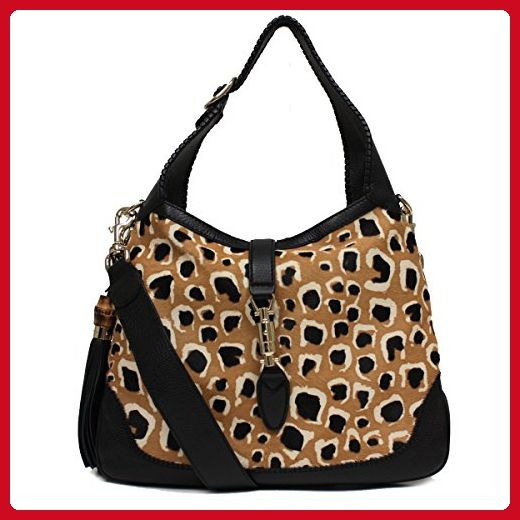 94688b3c2e4d Gucci Ponyhair Leopard Print New Jackie Shoulder Handbag 246907 - Shoulder  bags (*Amazon Partner-Link)