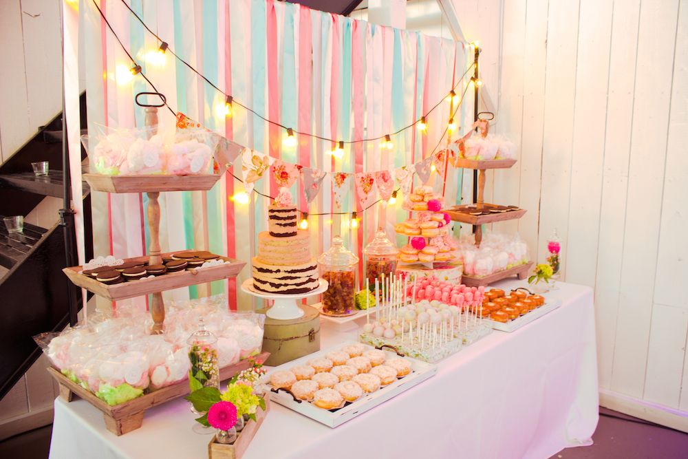 Favors Shabby Chic Sweet Display