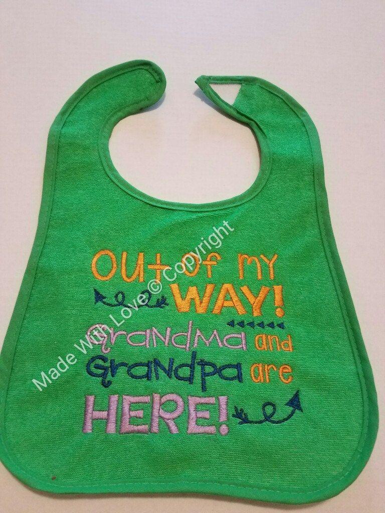 Embroidered Bibs Baby Bibs Customized Bibs Grandma Saying