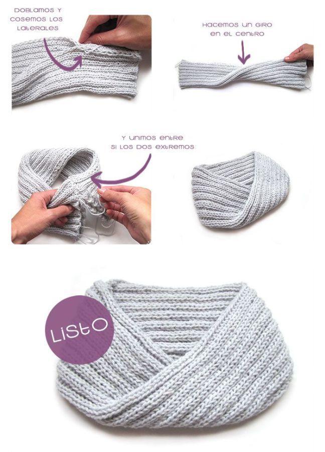 Cómo Hacer Un Cuello De Lana Paso a Paso | Bebé | Pinterest ...