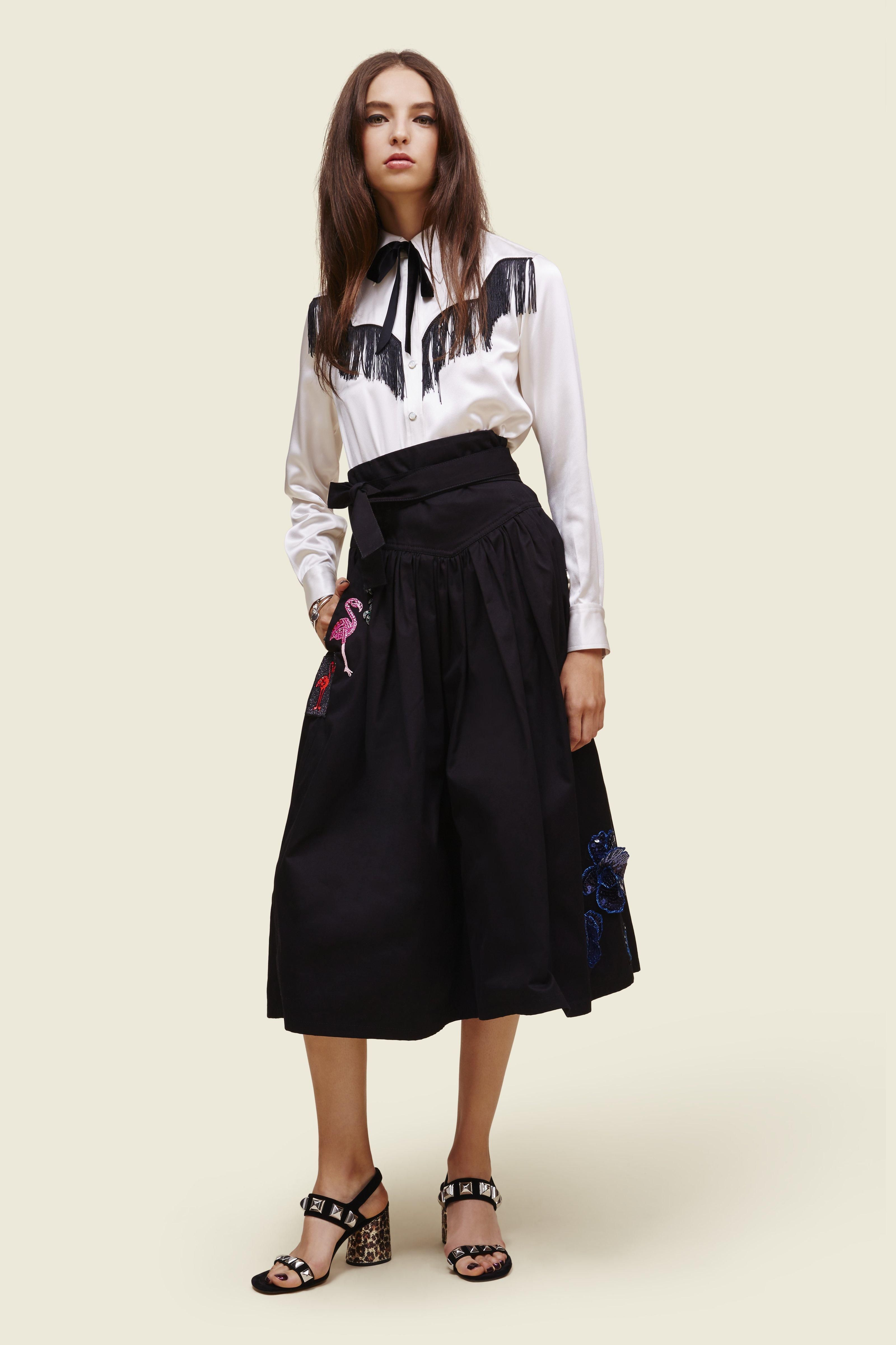 MARC JACOBS Cotton Belted Full Skirt With Embellishments. #marcjacobs #cloth #