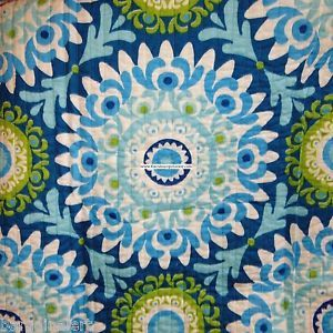 MOROCCAN-MEDALLION-3pc-FULL-QUEEN-QUILT-BLUE-AQUA-WHITE-Green-TURQUOISE-DAMASK