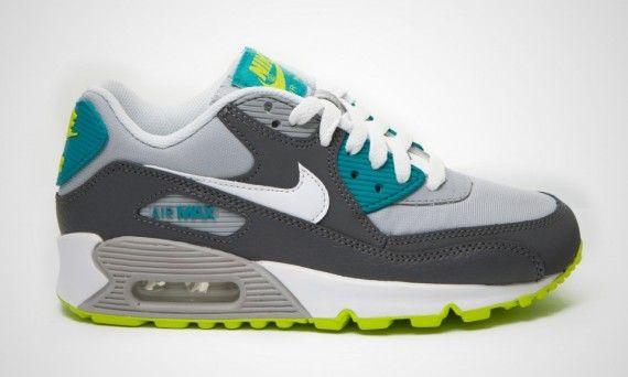 c7a1f29c03 Nike Air Max 90 GS - Grey - Blue - Green - SneakerNews.com | It's ...