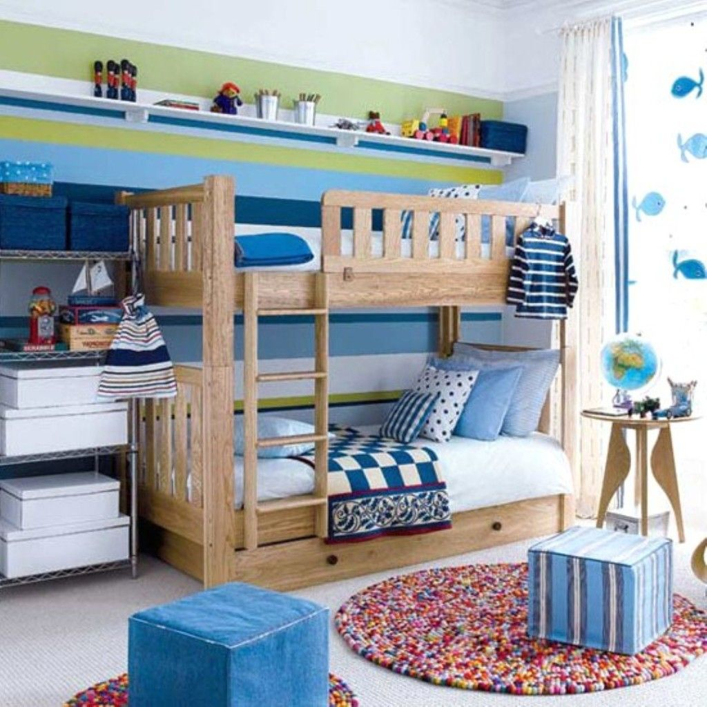 Toddler boys bedrooms with bunk beds fascinating toddler for Boys loft bedroom ideas