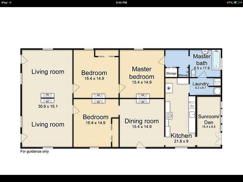 Shotgun house floor plan dream home pinterest for Shotgun floor plans