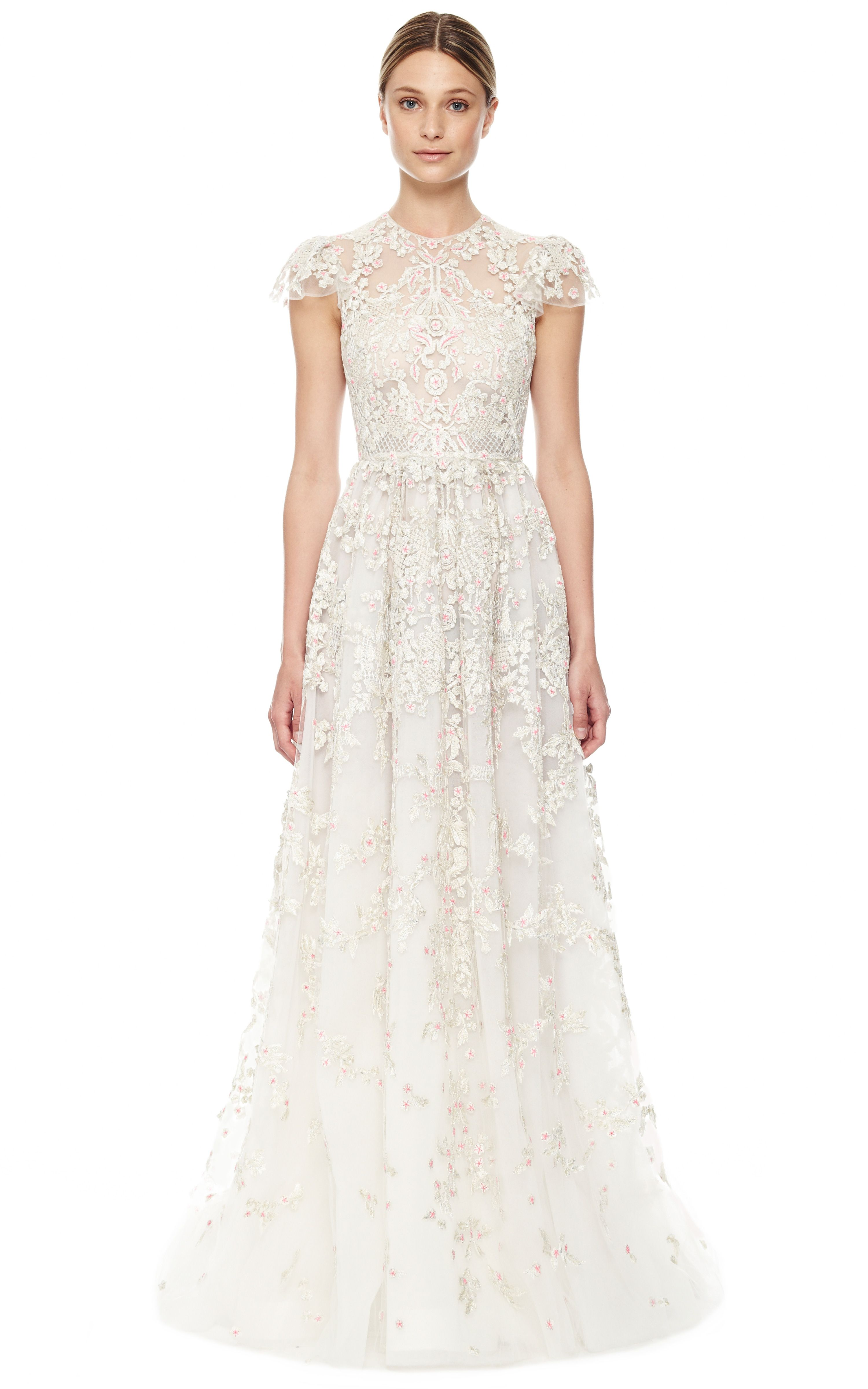 Avorio Multi Tulle Illusione Gown By Valentino Now Available On Moda Operandi