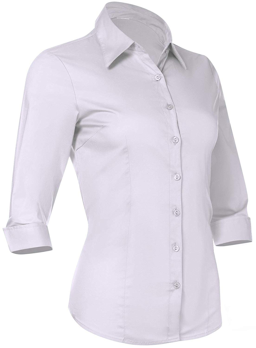 Free 2 Day Shipping Buy Pier 17 Button Down Shirts For Women 3 4 Sleeve Fitted Dress Shirt And Blouses Wor Fitted Dress Shirts Shirt Dress Perfect White Shirt [ 1359 x 1000 Pixel ]