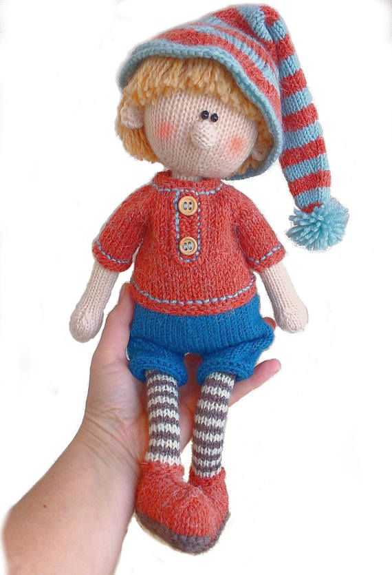 Knitting Pattern Doll Toy Knitting Pattern Knitted Doll Boy Pattern