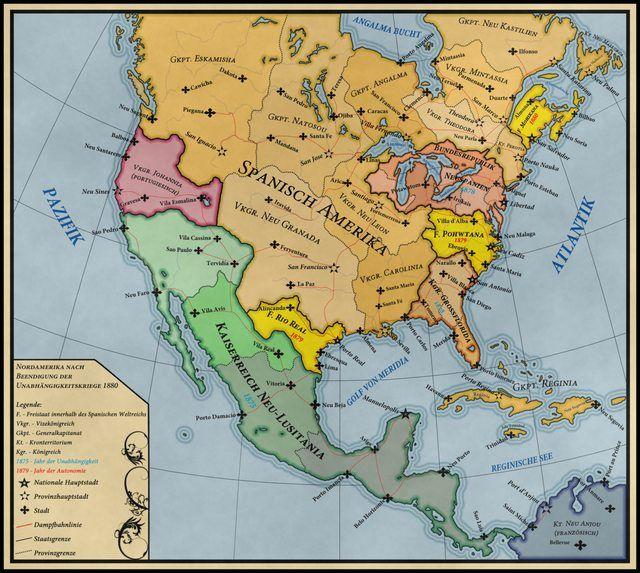 Alternate History Maps Of America Imgur Mapas Pinterest: North America Historical Map At Codeve.org