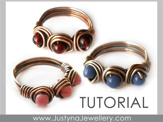 Wire Ring Tutorial, Wire Jewelry Pattern, Beading Ring Tutorial ...