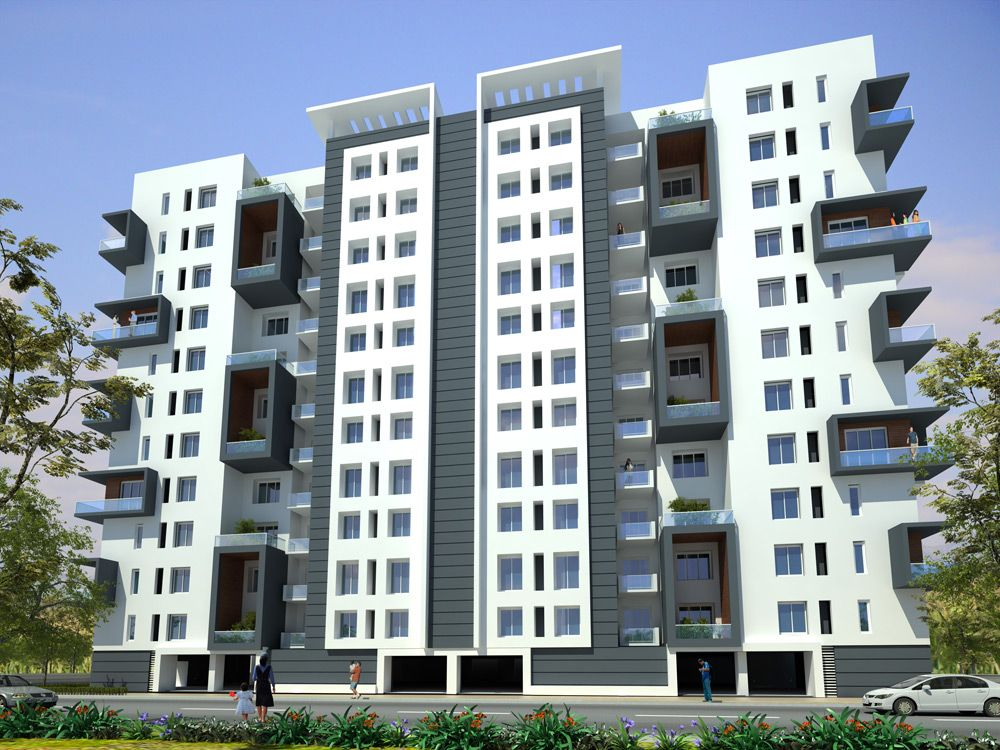 Apartment building elevation designs awesome 1000 for Best elevations residential buildings