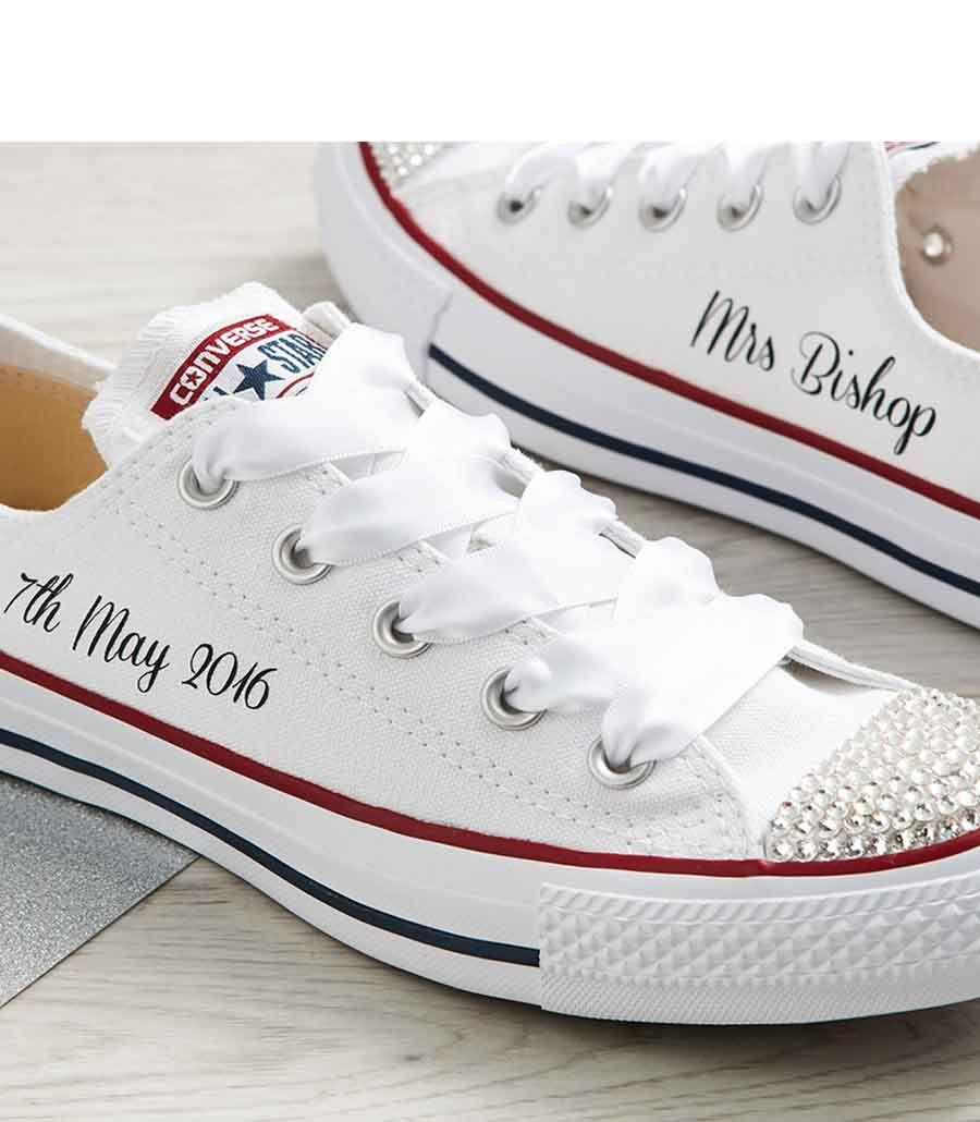 Mono White Custom Wedding Converse L Dead Fresh Co Uk
