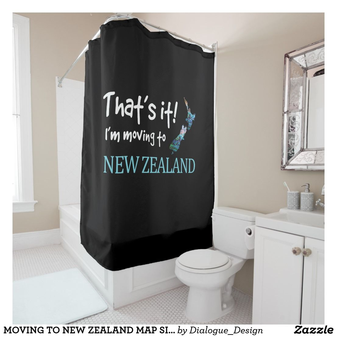 Moving To New Zealand Map Simple Paua Shower Curtain Zazzle Co