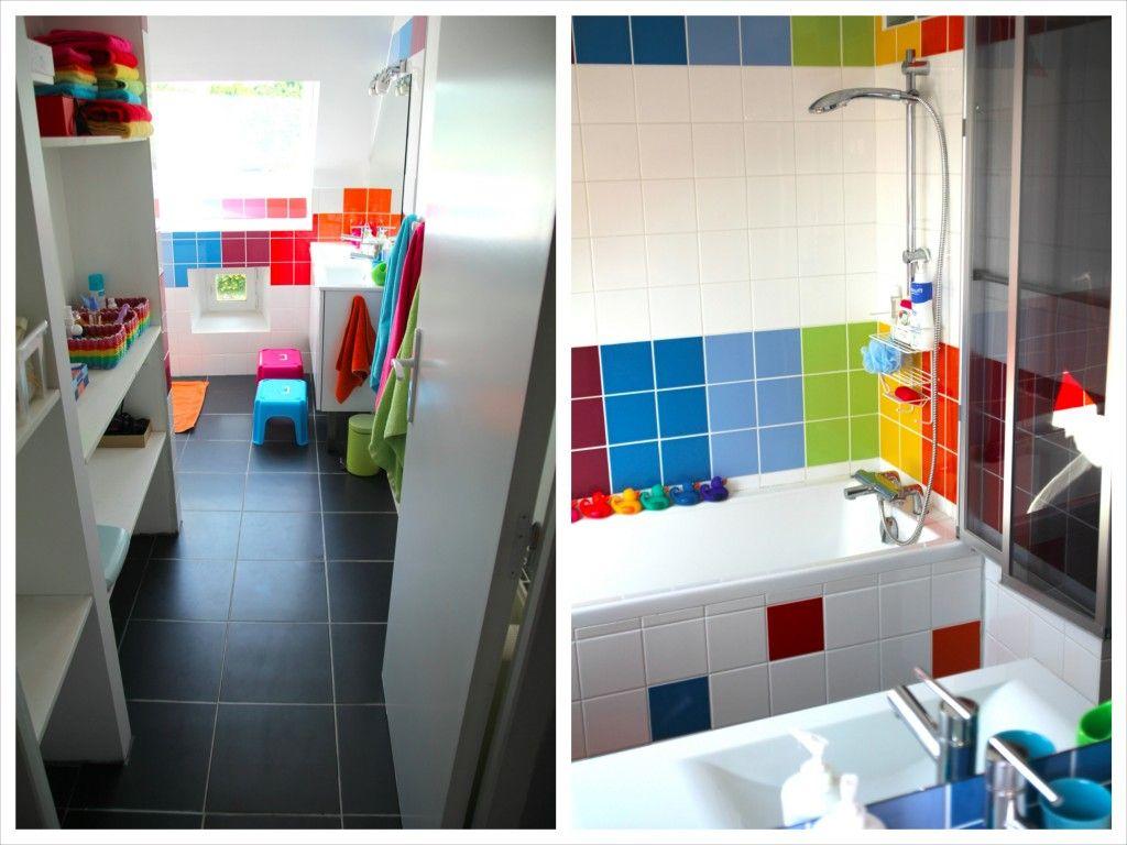 La rainbow bathroom | Salle de bains, Salle et Rangement