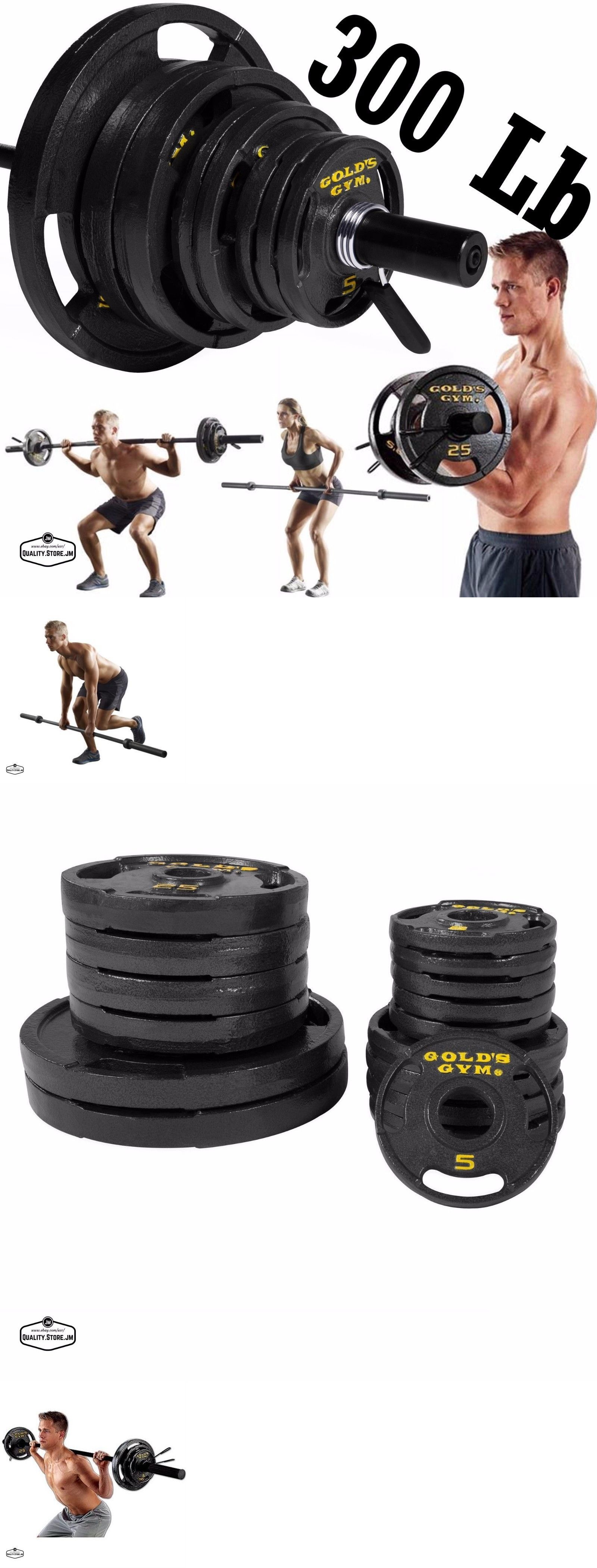 Weight Sets 179818 300 Lb Olympic Set 7 Foot Bar With Plates Lifting Equipment