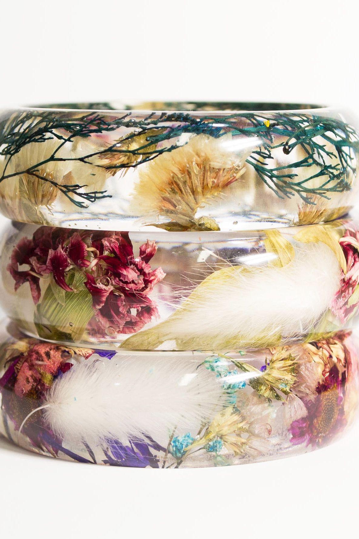 flower mini bracelet Real violet bracelet teenage girl bracelet gifts delicate bracelets tiny bracelet with flowers real violet flowers