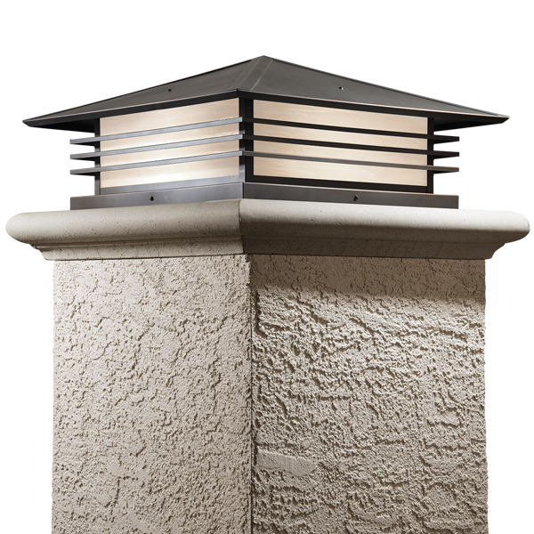 Our Mariposa Series Has The Classic Lines Of Prairie School Architecture Mariposa S Low Profile With Strong H Exterior Lighting Cottage Lighting Gate Lights