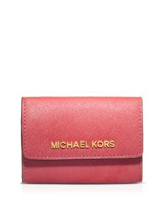 MICHAEL MICHAEL KORS Saffiano Coin Purse. #michaelmichaelkors #bags #leather #wallet #accessory