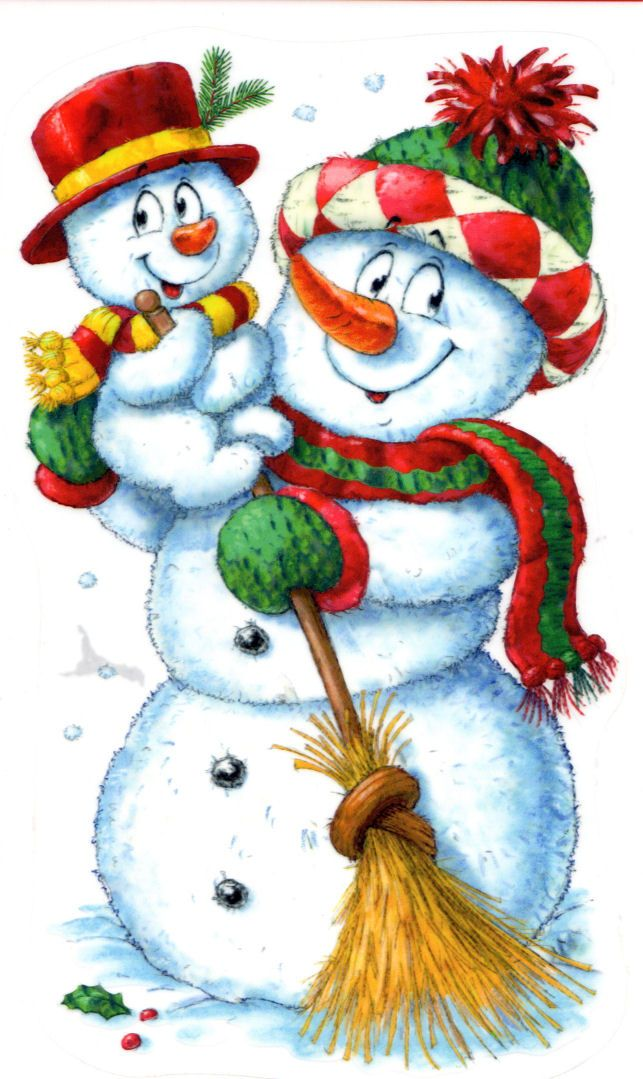Vintage Christmas Cards Clipart Snowman Greetings Ornaments Winter Wallpaper