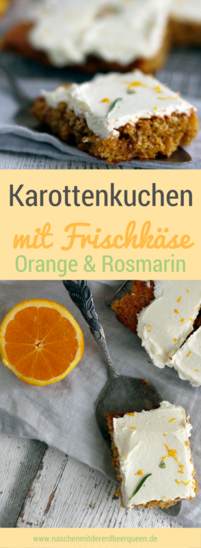 karottenkuchen mit frischk se rosmarin und orange bloggerfr hling pinterest kuchen. Black Bedroom Furniture Sets. Home Design Ideas