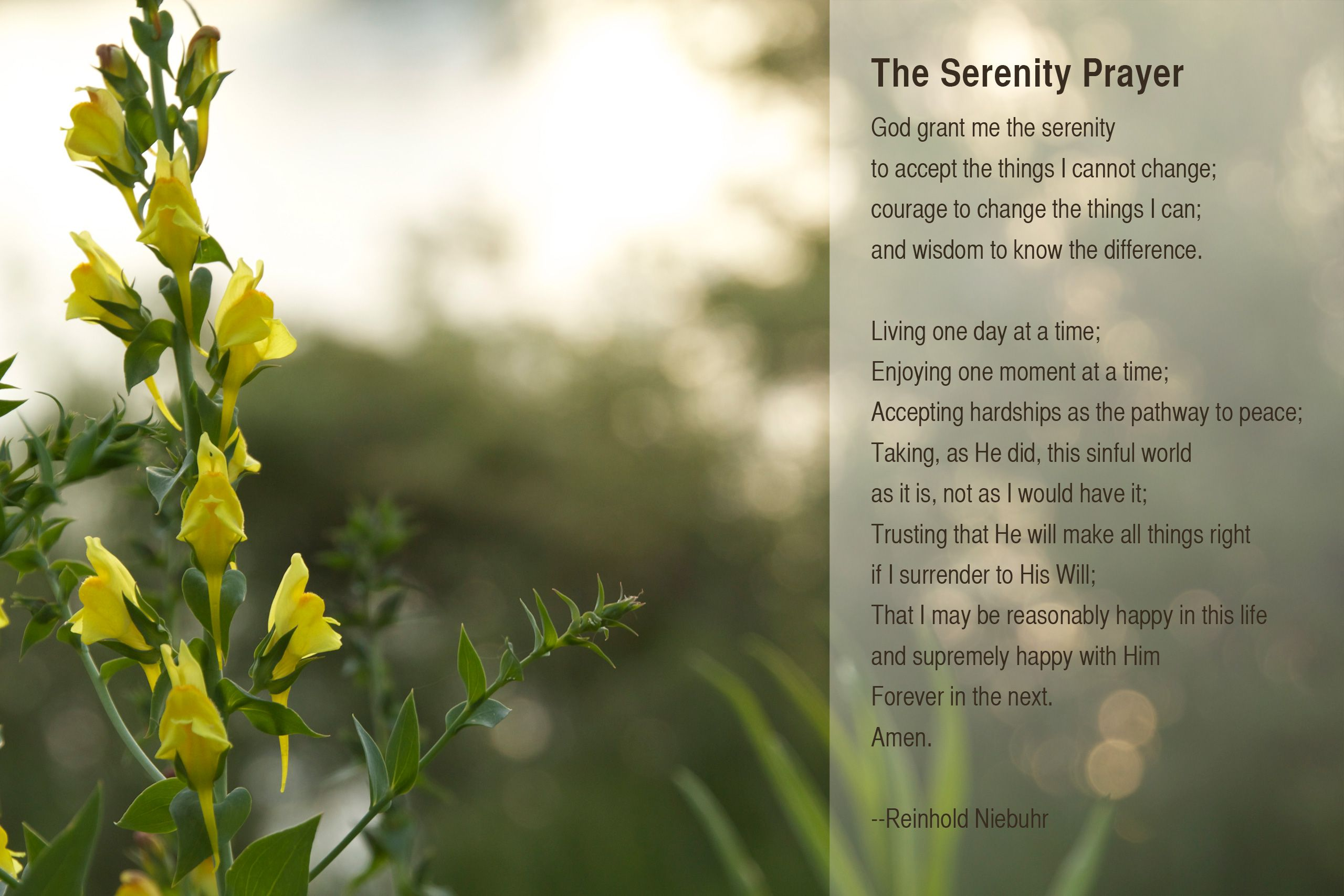 Full Serenity Prayer Wallpaper Chgland Info Full