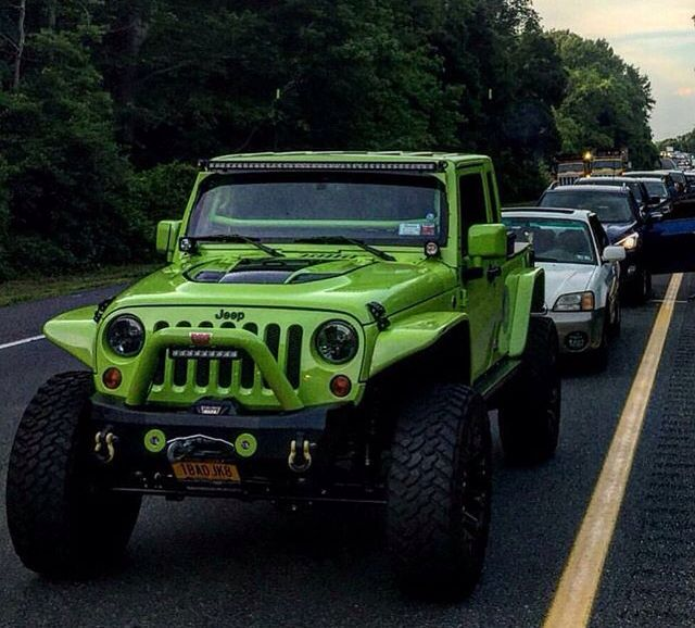 Impressive Lime Green Jeep Jk With Lime Green Modifications