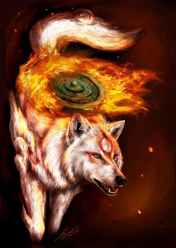 Okami Wolf Realistic Style Art Print By Zilven Amaterasu Art