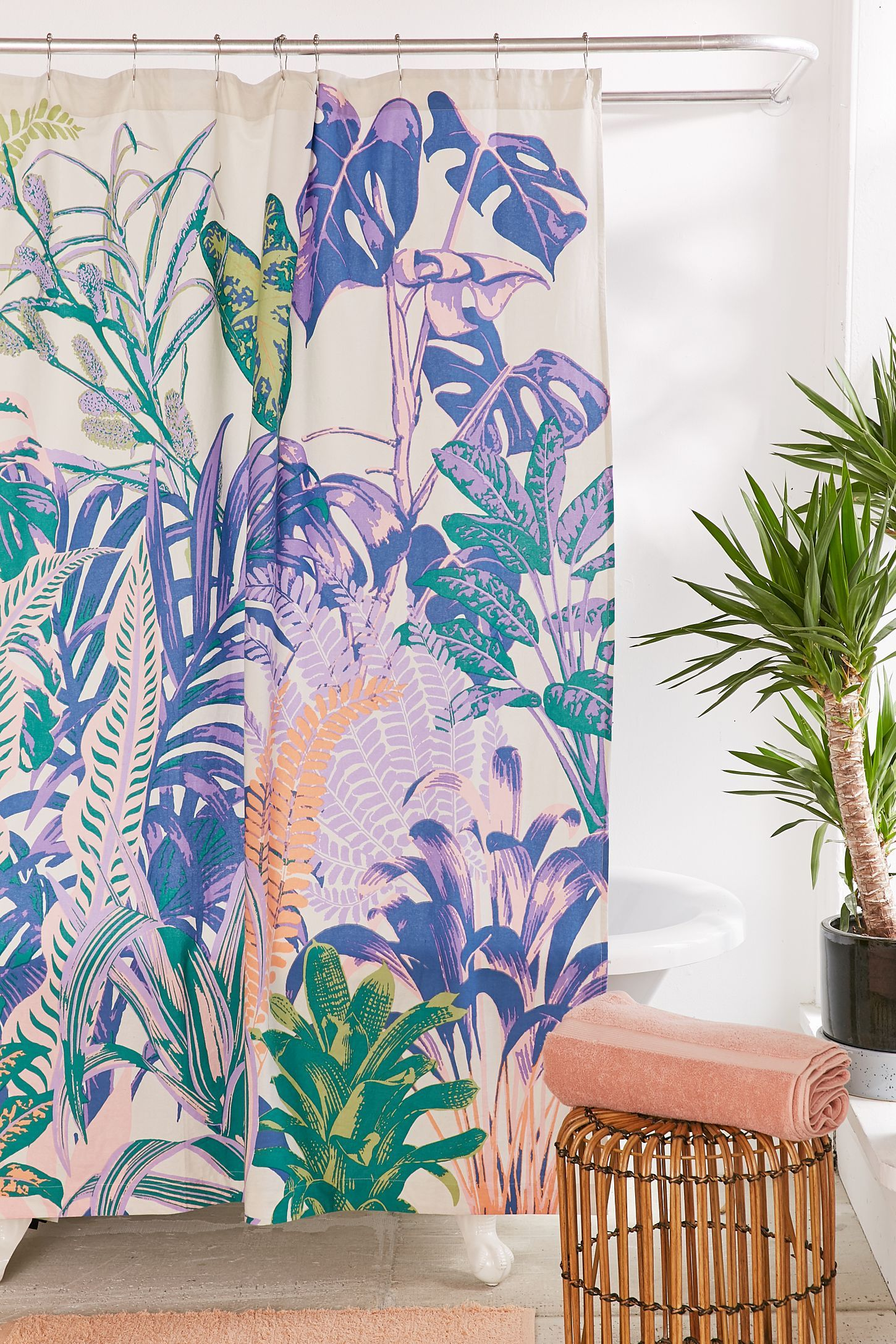 Dreamy Jungle Shower Curtain In 2020 Bohemian Shower Curtain