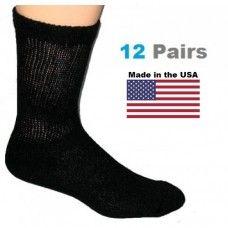 black crew diabetic socks for men
