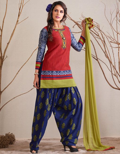 aa1dac3c0c Red Colour Suit With Heavy Embroidery Work And Heavy Border Work || Red  colour suit with heavy embroidery work and border work on all over suit and  three ...