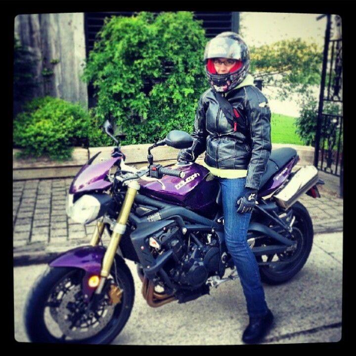 Purple Triumph Street Triple Motorcycle Purple Triumph Street
