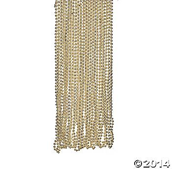 Gold Bead Necklaces for dance floor