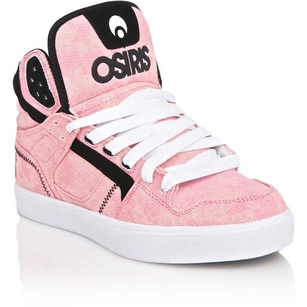 Osiris Pink Clone Sneakers ($62) ❤ liked on Polyvore