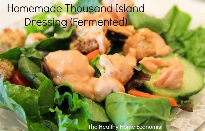 One of my very favorite salad dressings is Thousand Island. Unfortunately, the bottled versions purchased from the grocery store don't do it justice. Not by a long shot.Homemade thousand island dressing is definitely the way